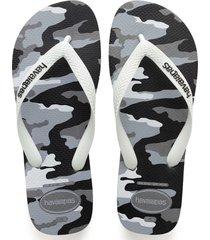 sandalias chanclas havaianas para hombre gris top camu