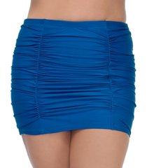 raisins curve trendy plus size caribbean solids costa swim skirt women's swimsuit