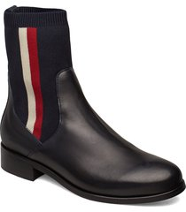 alissa 7c shoes boots ankle boots ankle boots flat heel blå tommy hilfiger