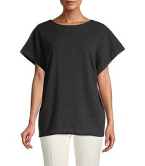 salvatore ferragamo women's draped cashmere sweater - grafite - size l