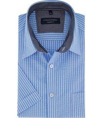blauw overhemd korte mouwen casa moda strepen