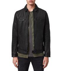 men's allsaints lark leather jacket