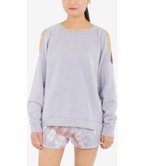 hippie rose juniors' cold-shoulder sweatshirt