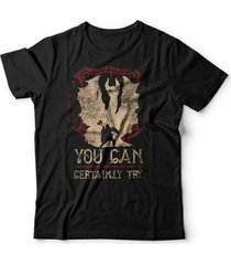 camiseta can certainly try - unissex