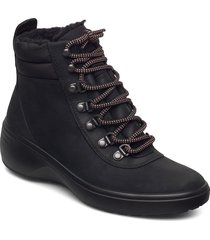 soft 7 wedge tred shoes boots ankle boots ankle boot - flat svart ecco