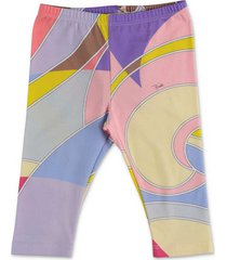 abstract print stretch cotton leggings