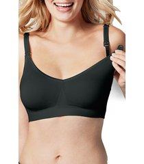 women's bravado designs body silk seamless maternity/nursing bra, size x-large - black