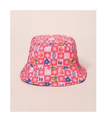 chapéu bucket hat estampado lorena vichy mindset lorena moreira multicor