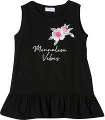 monnalisa black shirt with print