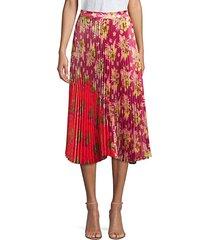 clara floral contrast skirt