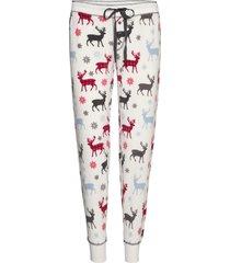 long pants pyjamasbyxor mjukisbyxor creme pj salvage