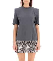 bella t-shirt with padded shoulders