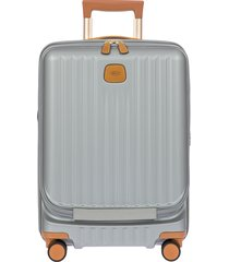 men's bric's capri 2.0 21-inch expandable rolling carry-on - grey