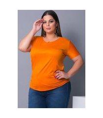 blusa camiseta t-shirt tecido sued urbania suede laranja