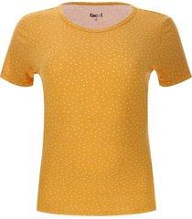 camiseta mujer m/c print puntos color amarillo, talla l