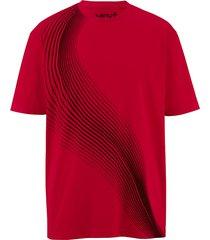 t-shirt men plus röd::svart