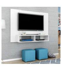 painel móveis bechara navi para tv até 47 pol 2 nichos branco