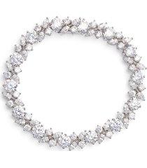 women's nadri cluster cubic zirconia bracelet