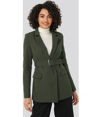 trendyol belt detail blazer - green