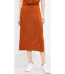 loft petite lou & grey signature softblend pocket midi skirt