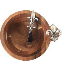 bowl de madeira lis com espatula