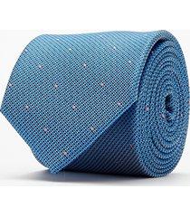 krawat mikrowzór niebieski 101