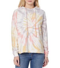 women's c & c california cara hoodie, size small - coral