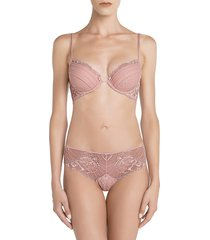 la perla women's adele push-up bra - pink - size 34 c