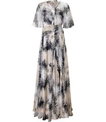 chrysanthemum–print dress