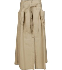 parosh beige canyon cotton skirt