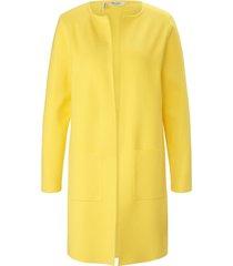 gebreide mantel lange mouwen van maerz muenchen geel