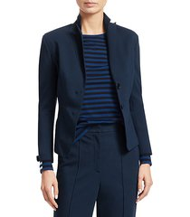fitted double button blazer