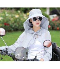 nuevo sombrero para el sol exterior transpirable para mujer gris