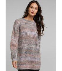 sweater jaspeado con lana y alpaca rosa claro esprit