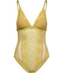 amy bodystocking baddräkt badkläder gul underprotection