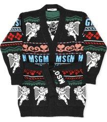 msgm cardigan with waist belt