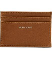 matt & nat max card holder, chili matte nickel