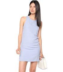 vestido azul mng