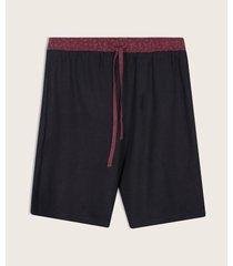bermuda de pijama contraste elástico
