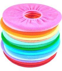 25 x bathroom warmer toilet washable cloth seat cover pads - random colors