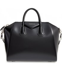 givenchy medium antigona box leather satchel - black