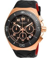 reloj technomarine tm-215064 negro rojo silicona
