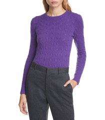 women's polo ralph lauren cable cashmere sweater