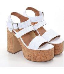 sandalia blanca heyas prista