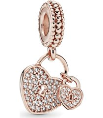 charm pendente rosetm love lock