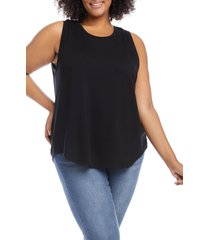 plus size women's karen kane tank top, size 2x - black