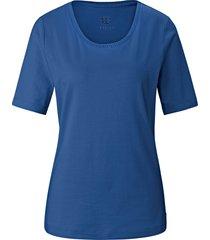 shirt ronde hals en korte mouwen van basler blauw