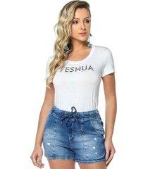 t-shirt daniela cristina gola u profundo 02 602dc10296 branco pp - feminino