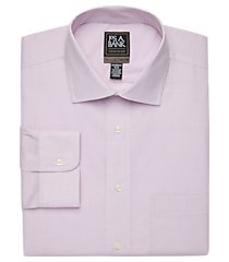 travel tech collection tailored fit spread collar grid shirt clearance, by jos. a. bank