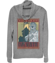 fifth sun juniors talespin cape suzette poster fleece cowl neck sweatshirt